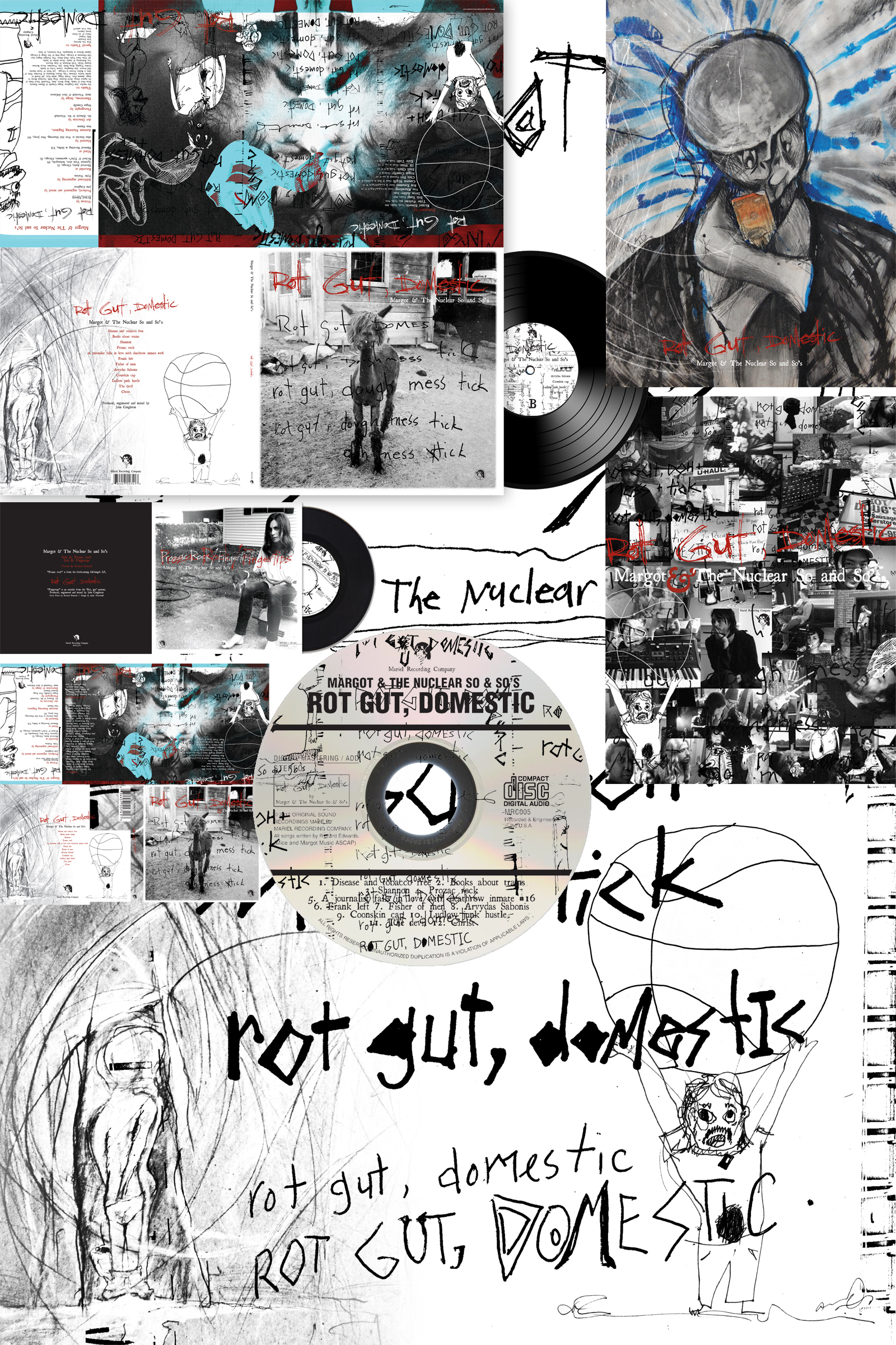 "Design, Illustration, & Branding for ""Rot Gut, Domestic"", the 2012 full-length release by Margot & The Nuclear So and So's"